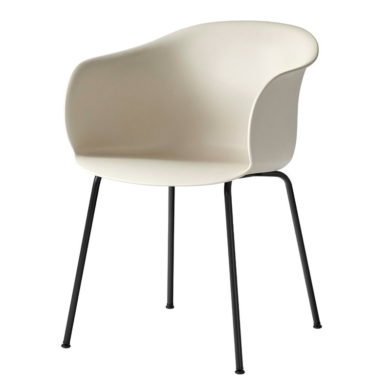 &Tradition Elefy JH28 chair, soft beige - black
