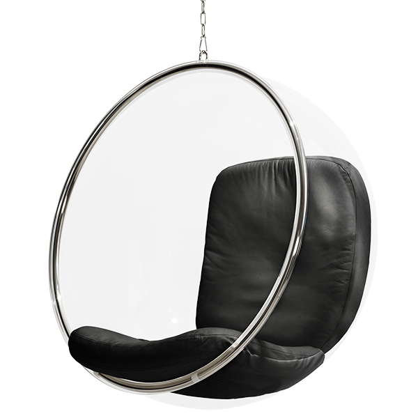 Eero Aarnio Originals Sedia Bubble Chair, nera