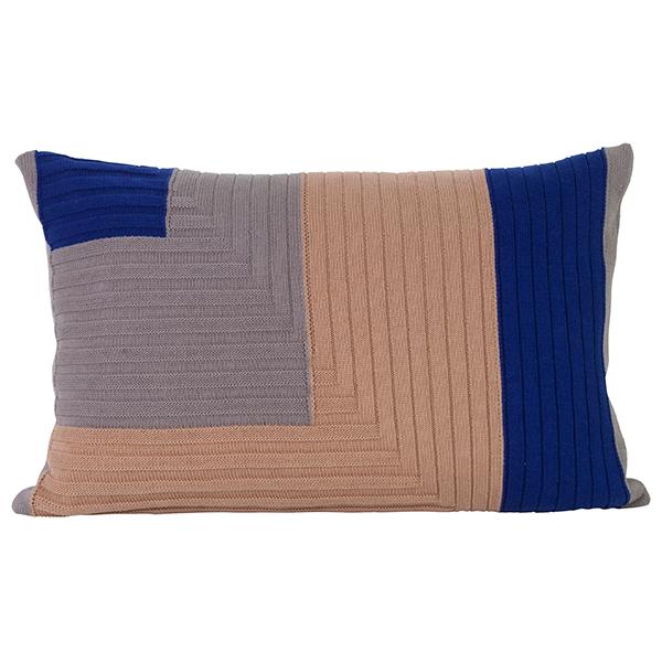 Ferm Living Angle Knit cushion, dusty rose
