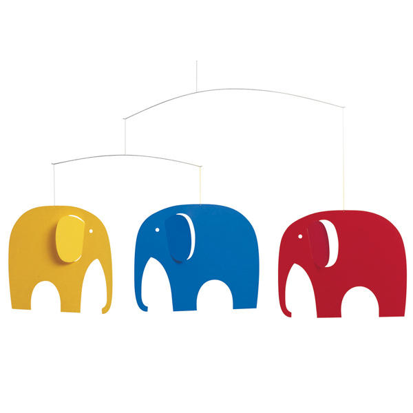 Flensted Mobiles Elephant Party mobile, colourful