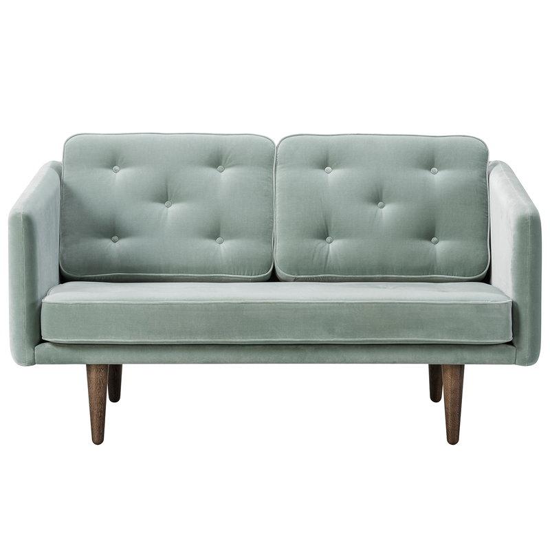 Fredericia No. 1 sofa, 2-seater, Harald 823 - smoked oak