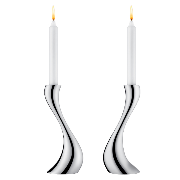 Georg Jensen Cobra candlestick, 2 pcs