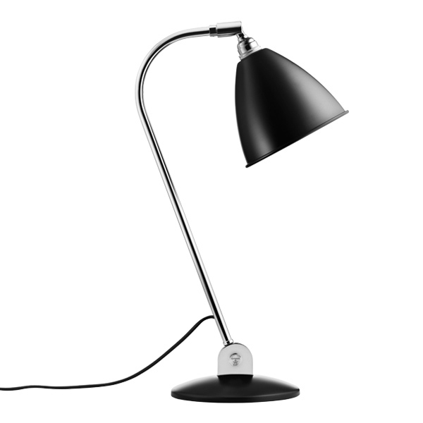 Gubi Bestlite BL2 table lamp, chrome - black semi matt