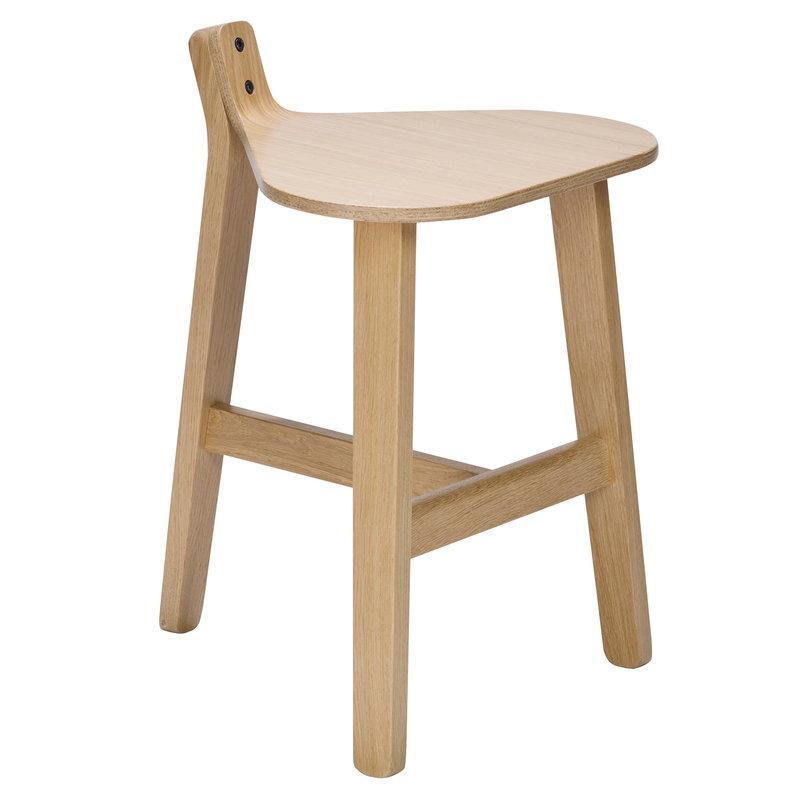 Karakter Bronco stool, lacquered oak