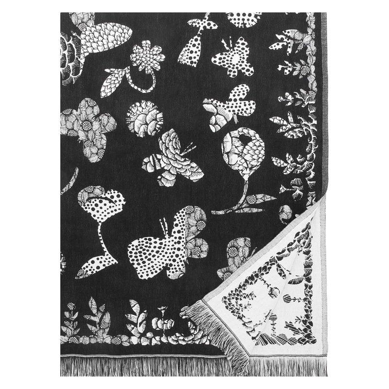 Lapuan Kankurit Aamos peitto 140 x 240 cm, valkoinen - musta