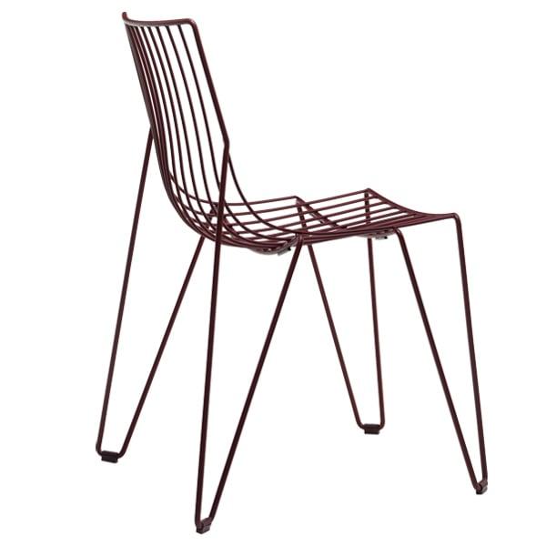 Massproductions Tio tuoli, viininpunainen