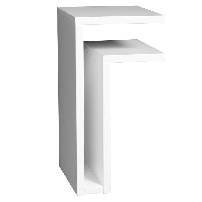 Maze F-shelf seinähylly, oikea, valkoinen