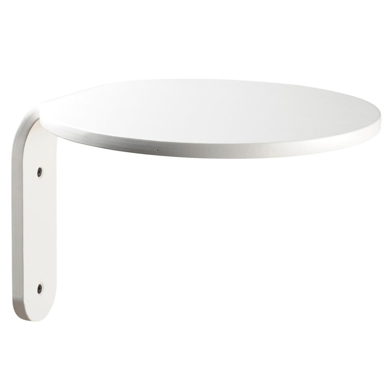 Muoto2 Turn wall shelf, white