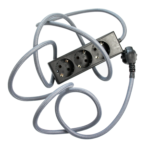 N.U.D. Collection Nud Extend 3-way extension cord, dark grey