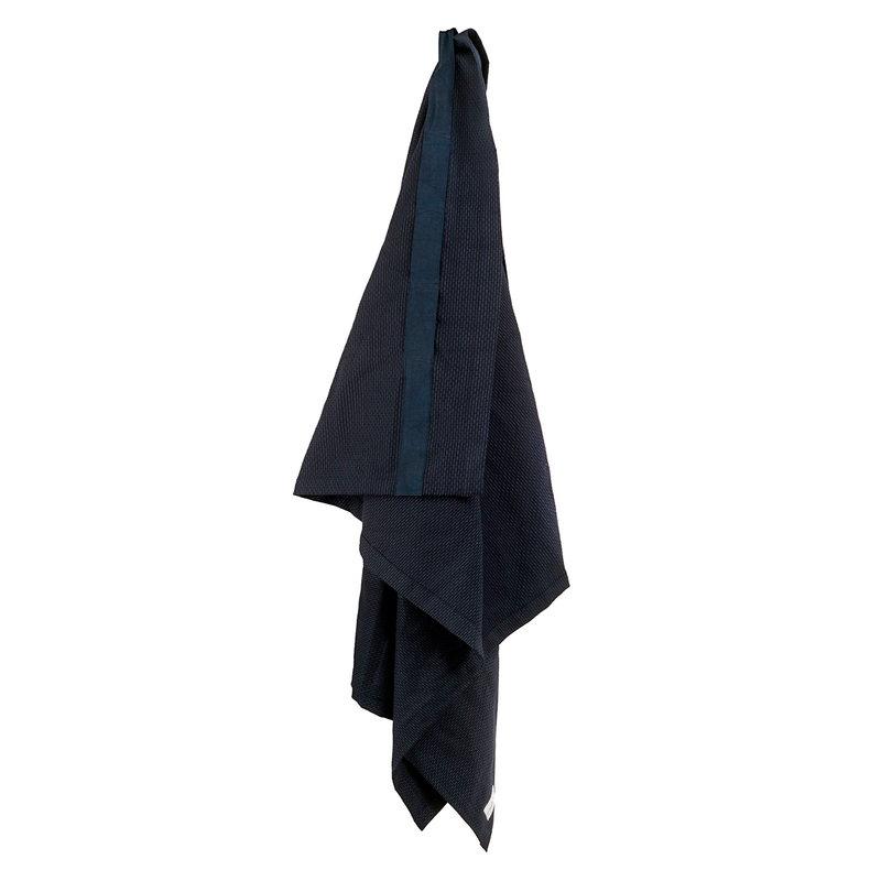 The Organic Company Wellness giant towel, dark blue