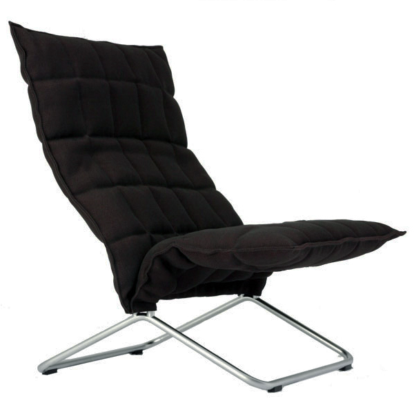 Woodnotes K chair, wide, black