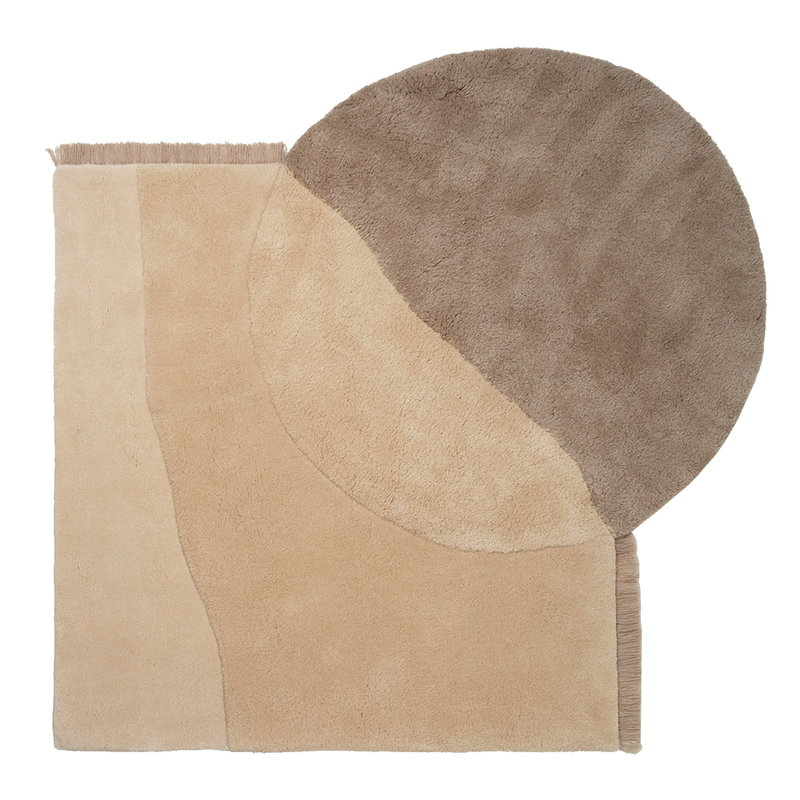 Ferm Living View tufted rug, beige