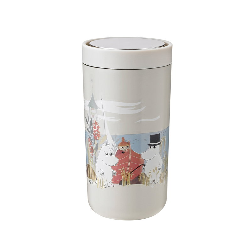Stelton To Go Click thermo cup, 0,2 dl, sand - Moomin