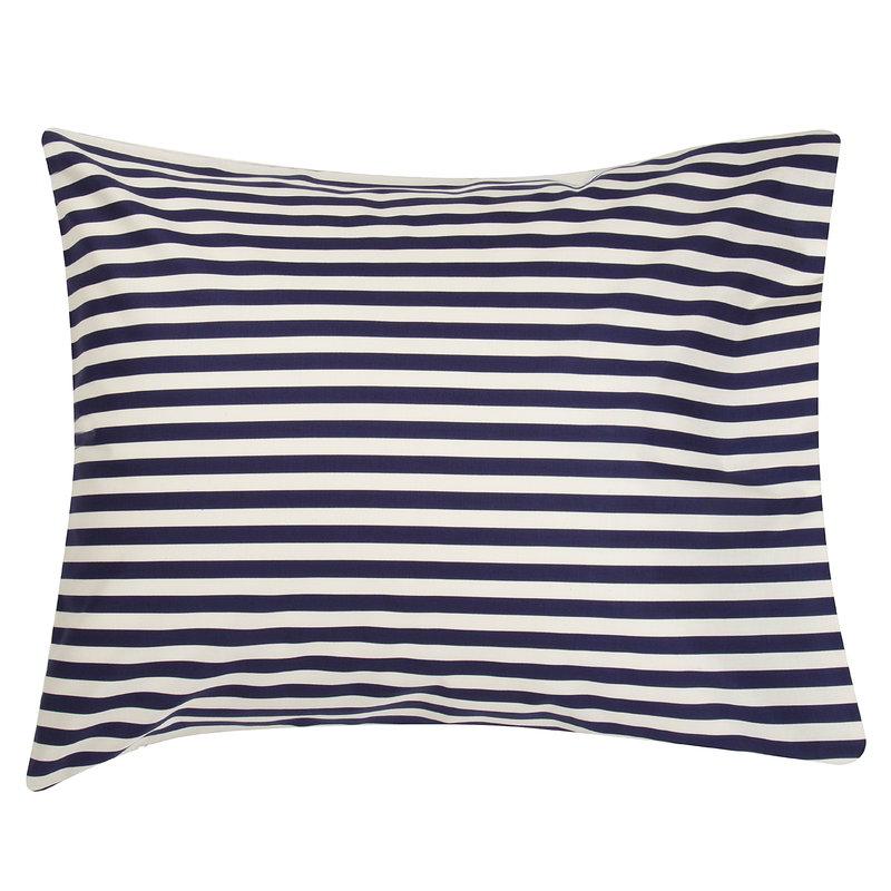 Marimekko Tasaraita tyynyliina, luonnonvalkoinen - tummansininen