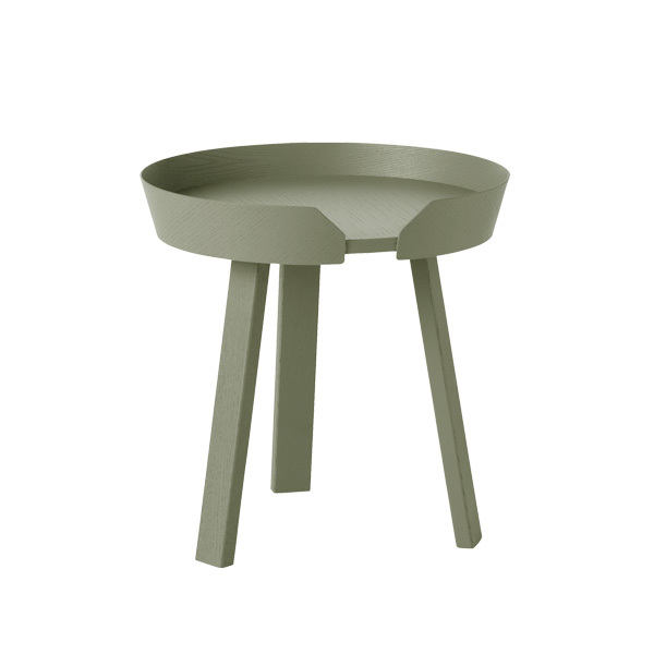 Muuto Around coffee table, small, dusty green