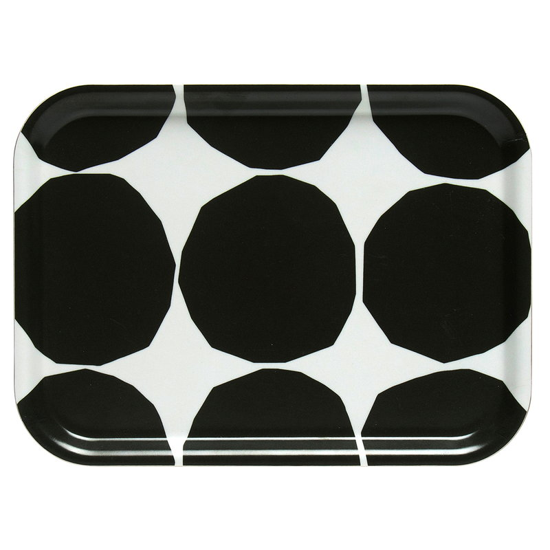 Marimekko  Kivet tray, ecru - dark green