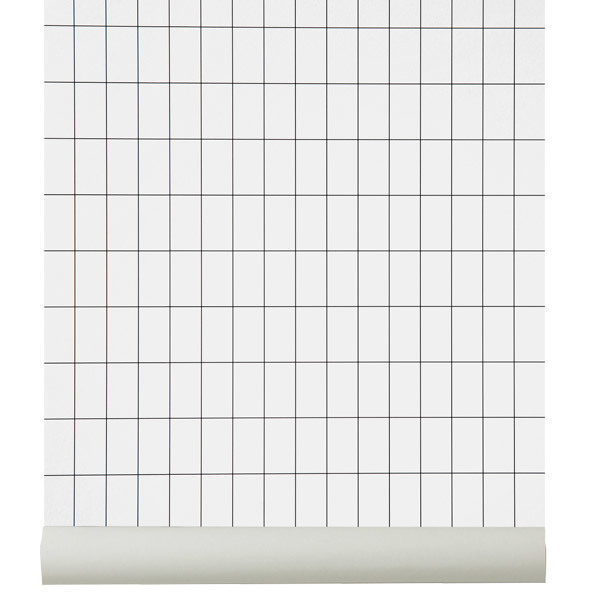 Ferm Living Grid wallpaper, black - white