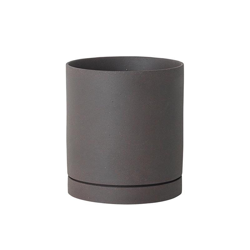 Ferm Living Sekki pot, M, charcoal