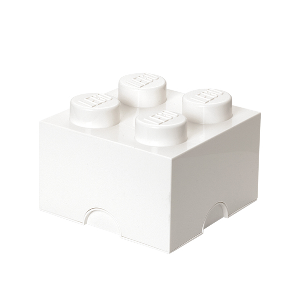 Lego Storage Brick 4, White