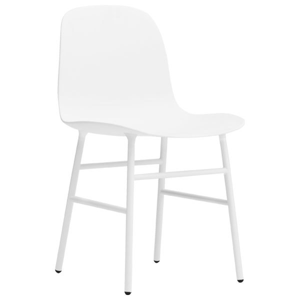 Form Chair, White/steel