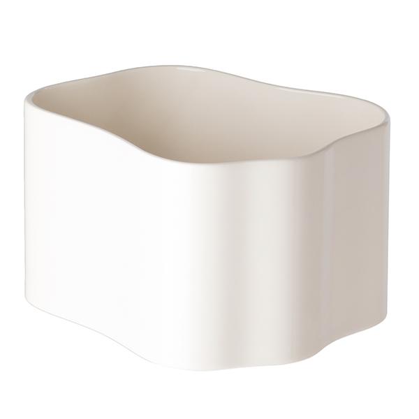 Artek Riihitie ruukku B, keskikokoinen, kiiltävä valkoinen