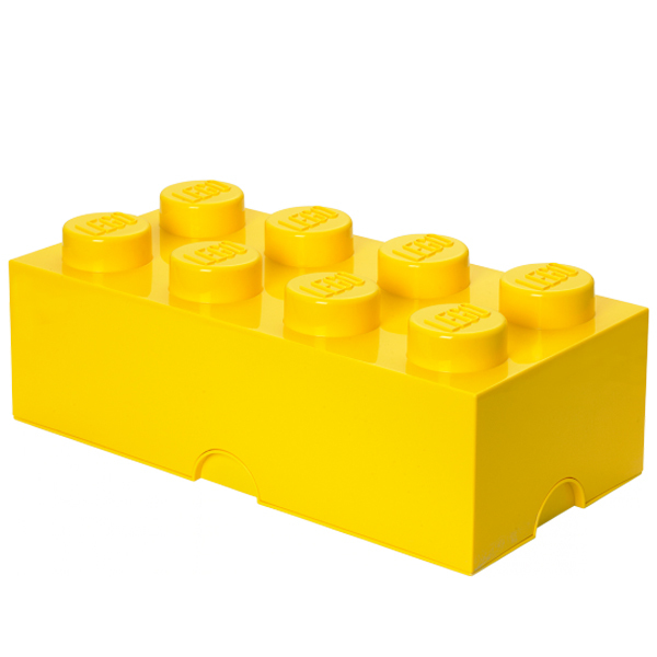 Room Copenhagen Lego Storage Brick 8, yellow