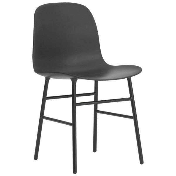 Normann Copenhagen Sedia Form, base in acciaio, nera