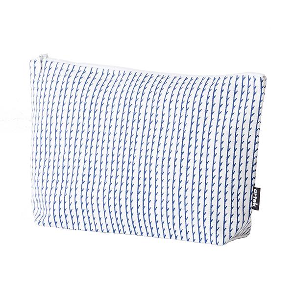 Artek Rivi pouch, large, white-blue