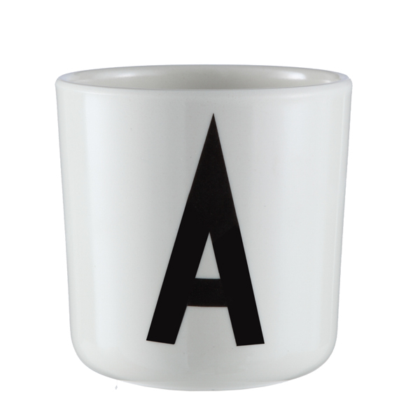 Design Letters Arne Jacobsen melamine cup A-Z