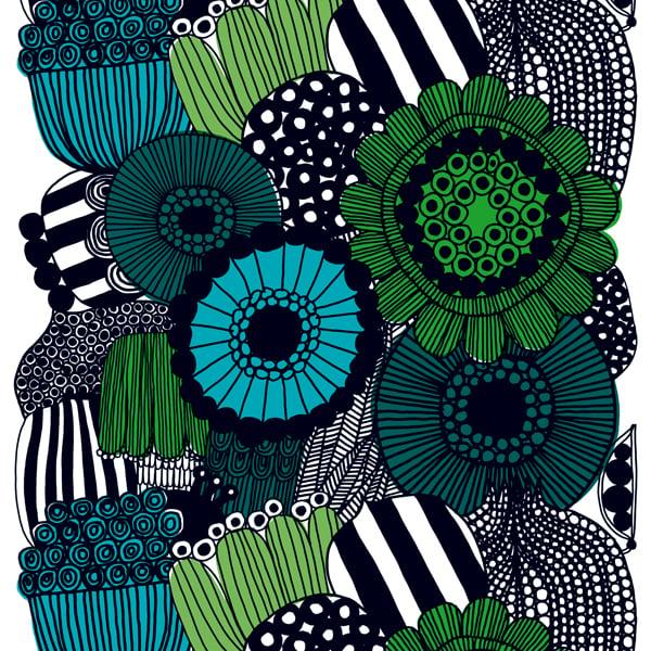 Marimekko Siirtolapuutarha fabric, green | Finnish Design Shop