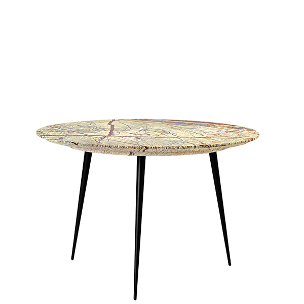 Mater Disc side table, small, jungle green marble