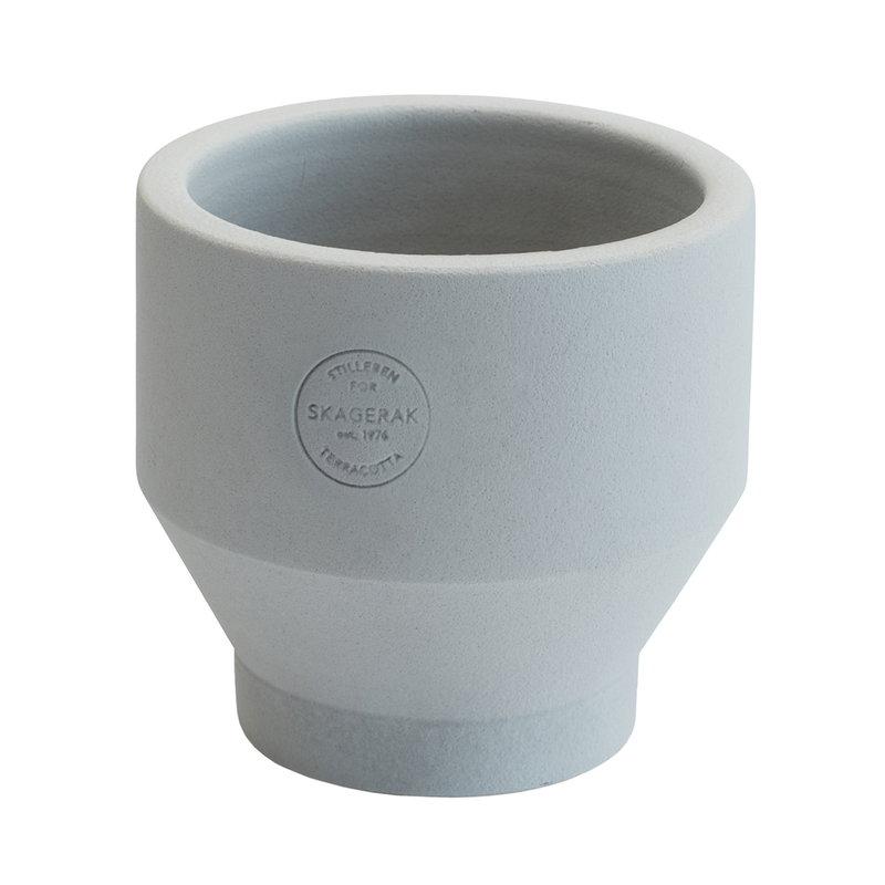 Skagerak Edge pot 13 cm, light grey