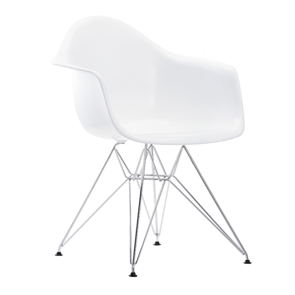 Vitra Eames DAR chair, white - chrome