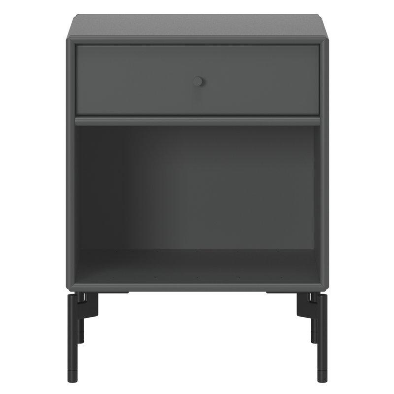 Montana Furniture Dream nightstand, black legs - 04 Antracite