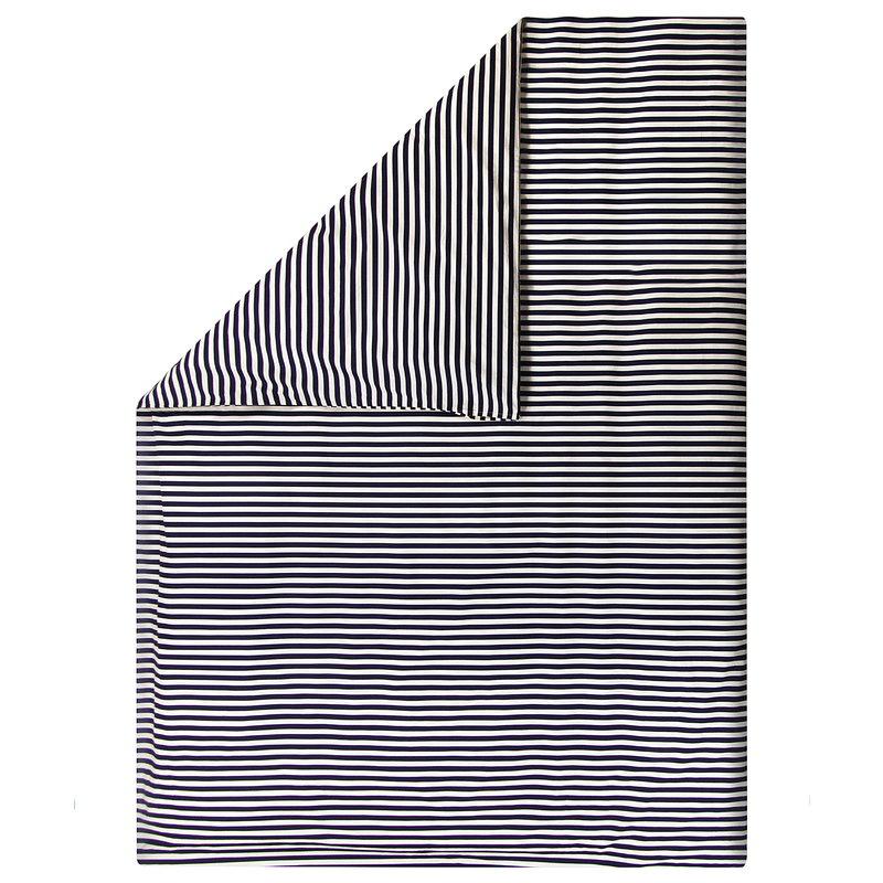 Marimekko Tasaraita double duvet cover 240 x 220 cm, off-white - dark blue