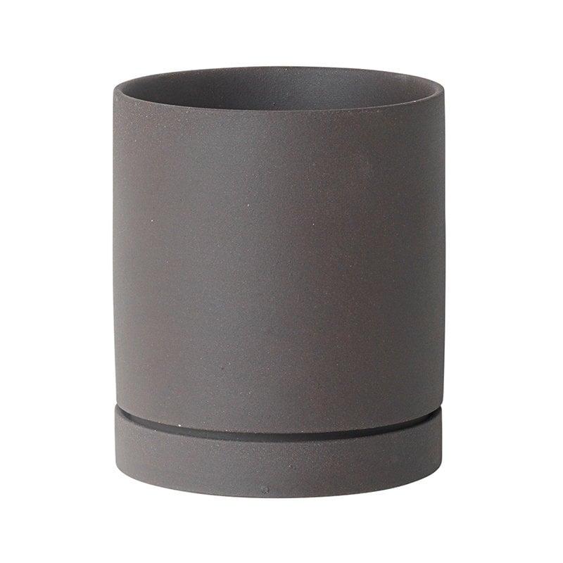 Ferm Living Sekki pot, L, charcoal