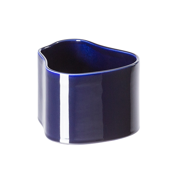 Artek Riihitie plant pot A, small, blue gloss