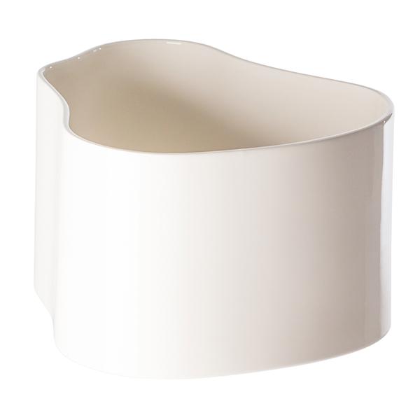 Artek Riihitie ruukku A, suuri, kiiltävä valkoinen
