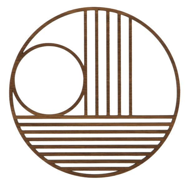 Ferm Living Outline trivet, circle