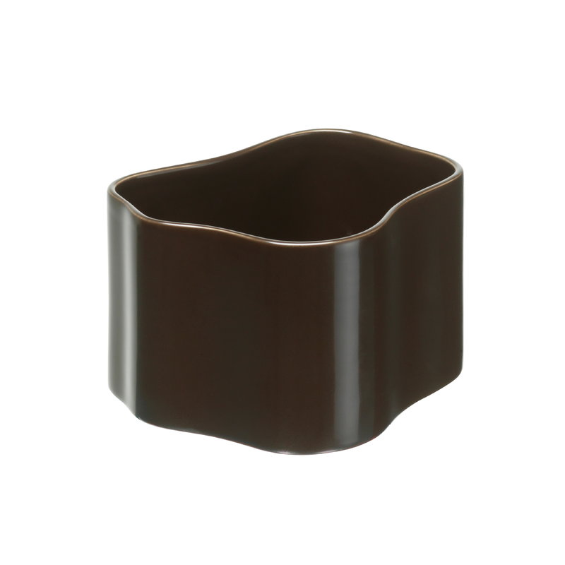 Artek Vaso Riihitie Modello B, piccolo, marrone scuro