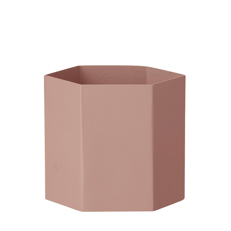 Ferm Living Hexagon pot L, rose