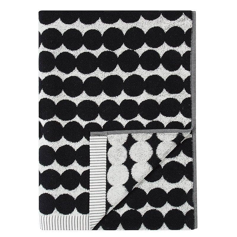 Marimekko Rsymatto Bath Towel Black White Finnish Design Shop