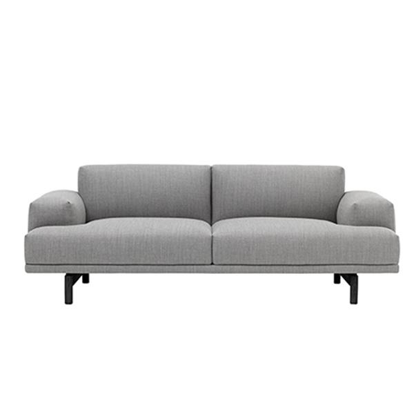 muuto compose sofa 2 seater black legs finnish design shop