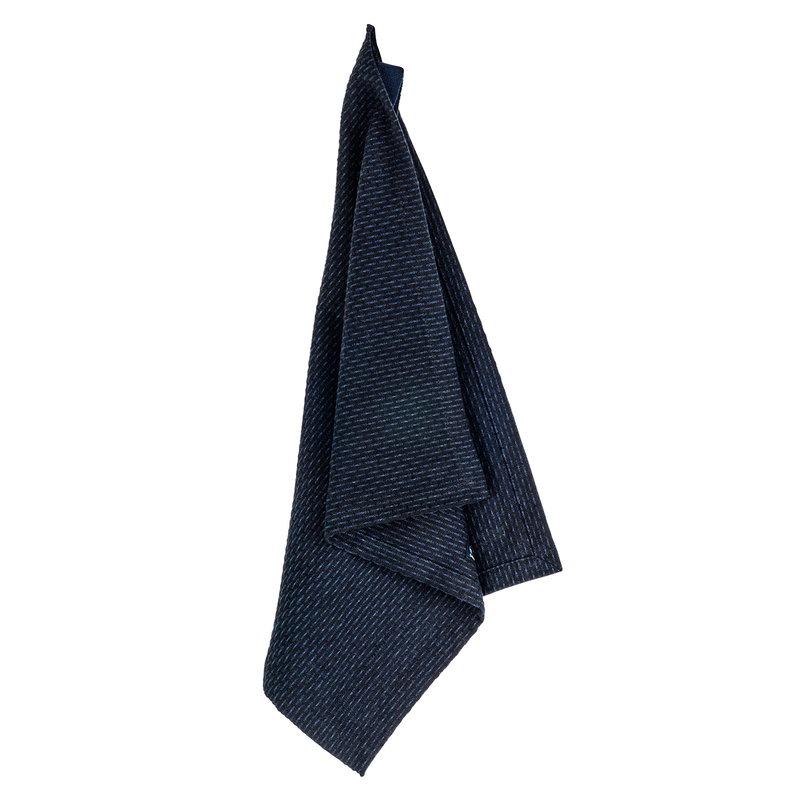 The Organic Company Kitchen and wash cloth, dark blue