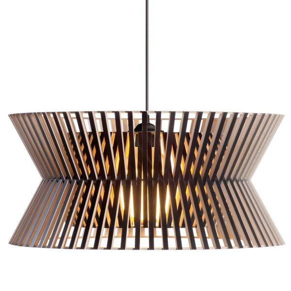 Secto Design Kontro 6000 pendant, black