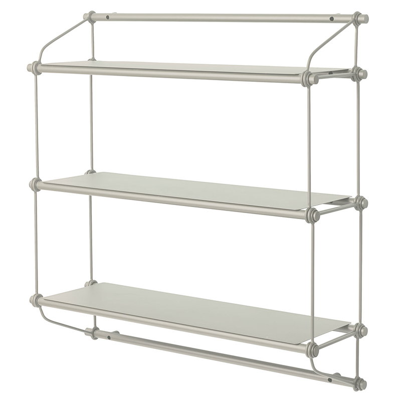 Warm Nordic Parade wall shelf, 3 shelves, warm white