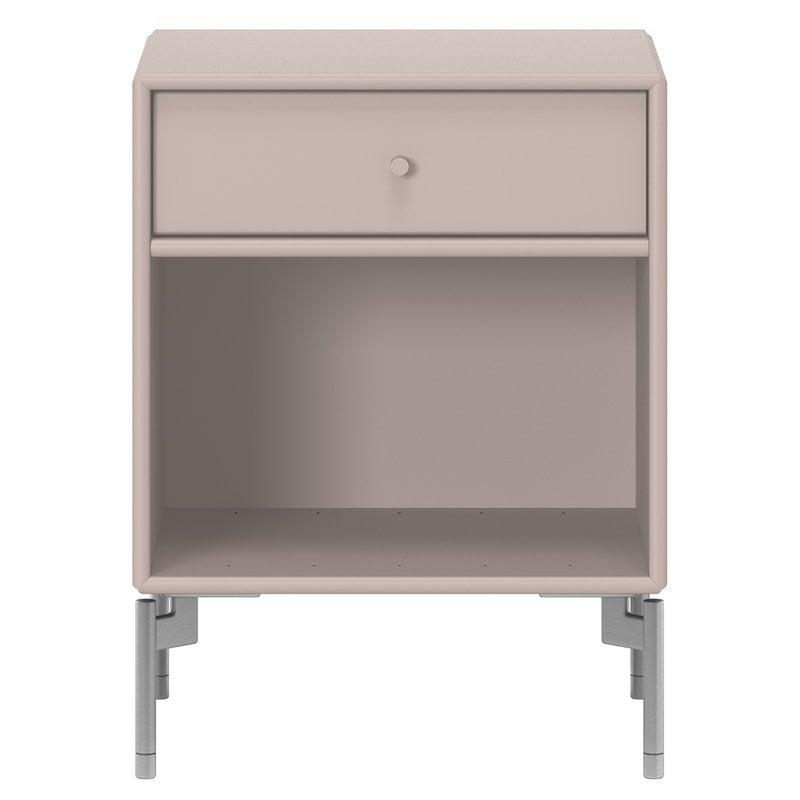 Montana Furniture Dream yöpöytä, mattakromi jalat - 137 Mushroom