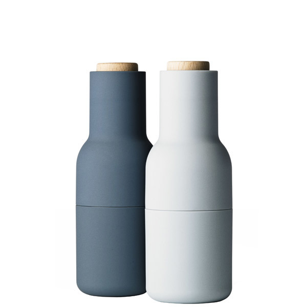 Menu Macinino Bottle, set di 2, blues - faggio