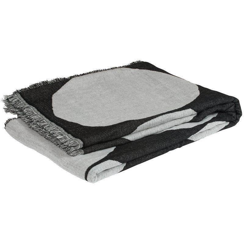 Marimekko Kivet blanket, off white - black