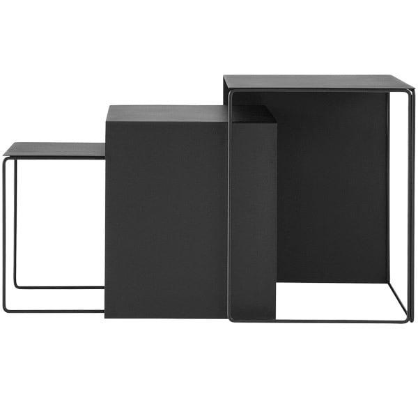 Ferm Living Cluster tables 3 pcs, black
